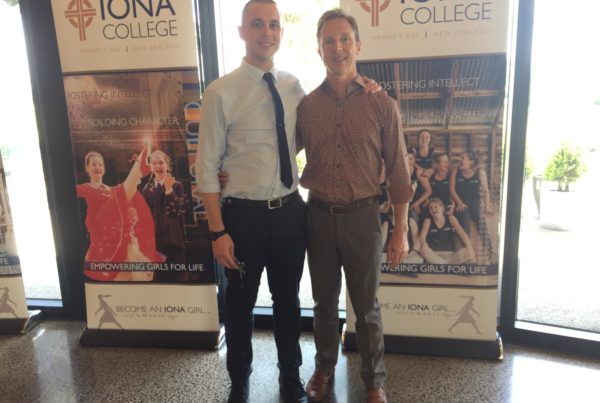Timothy-Carroll-and-David-Trousdell-at-Iona-College-New-Zealand